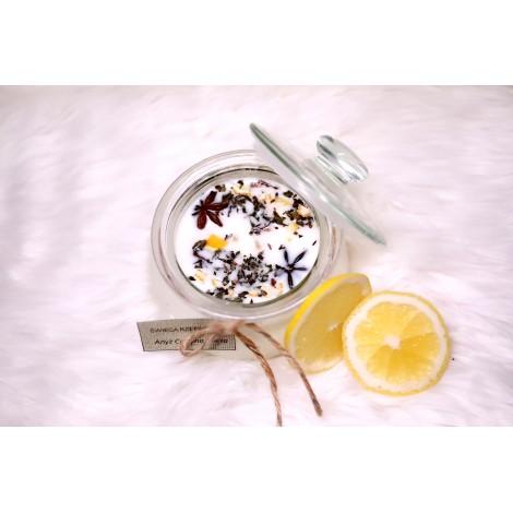 Świeca rzepakowa - anyż, cytryna, mięta pieprzowa.