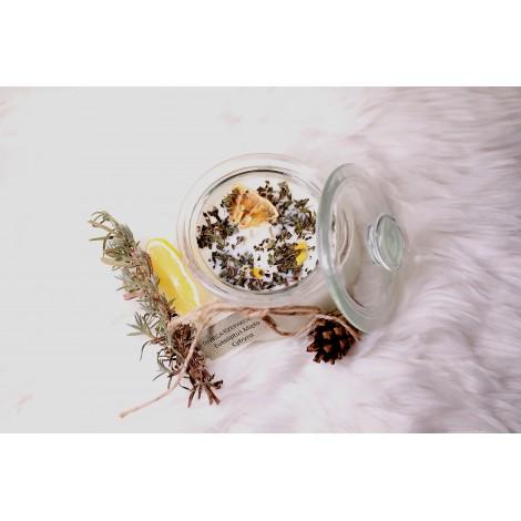 Świeca rzepakowa - eukaliptus, cytryna, mięta pieprzowa