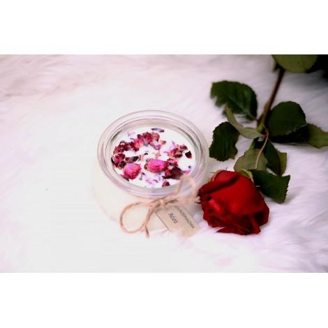 Świeca rzepakowa - róża